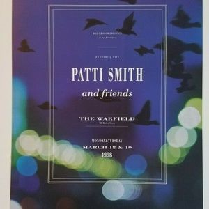 Patti Smith 1996 Warfield Concert Limited Poster